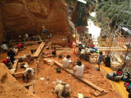 Yacimientos arqueológicos en Sierra de Atapuerca
