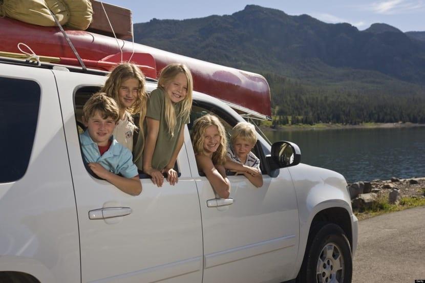 viajar en familia por carretera
