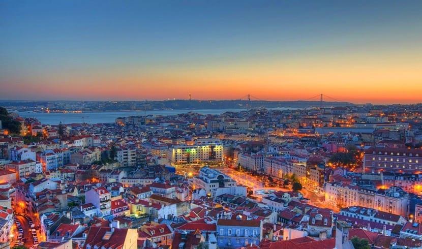 Paisaje en Lisboa cuando se visita Portugal