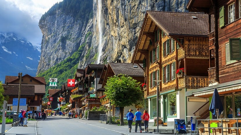 zona turística en suiza