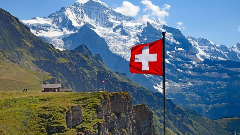 zona montañosa en suiza