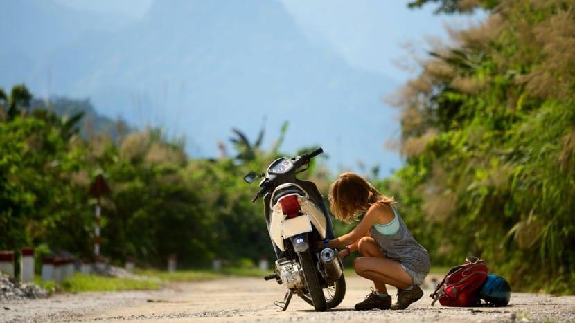 viajar sola en moto